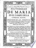 Gloriosa fecundidad de Maria en el campo de la Catolica Iglesia