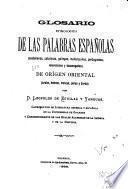 Glosario etimológico de las palabras españolas