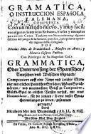 Gramatica, o instruccion española, y alemana