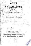 Guía de hacienda de la República Mexicana