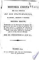 Historia cierta de la secta de los francmasones