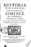 HISTORIA DE EL CARDENAL DON FR. FRANCISCO XIMENEZ DE ZISNEROS