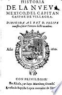 Historia de la nueva Mexico (etc.)