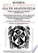 Historia de la Provincia de Aragon de la Orden des Predicadores