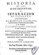 Historia de los movimientos y separacion de Catalũna