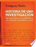 Historia de una investigación