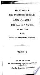 Historia del ingenioso hidalgo don Quixote de la Mancha: (XXX,336,[6] p.)