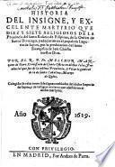 Historia del insigne ... Martyrio ... Religiosos ... de la Ord. de S. Domingo