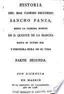 Historia del mas famoso escudero Sancho Panza