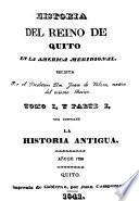 Historia del reino de Quito en la América meridional