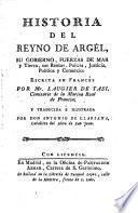 Historia del Reyno de Argel