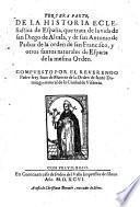 Historia Eclesiastica de todos los santos, de España