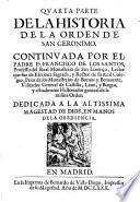 Historia General De La Orden De San Geronimo (continuada por Joseph de Siguenca y Francisco de los Santos.)