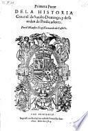 Historia general de Sancto Domingo, y de su orden de predicadores