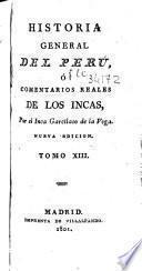 Historia general del Perú ó Comentarios reales de los Incas