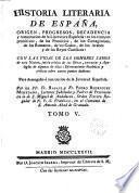 Historia literaria de España desde su primera poblacion hasta nuestros dias, 6