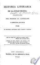 Historia literaria de la Edad Media