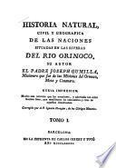 Historia Natural Civil Y Geogr�afica de Las Naciones Situadas en Las Riveras Del R�io Orinoco
