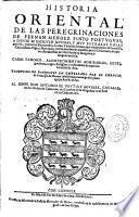 Historia oriental de las peregrinaciones de Fernan Mendez Pinto portugues