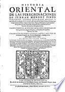 Historia oriental de las peregrinaciones de ---