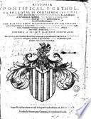 Historia pontifical y catholica