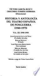 Historia y antología del teatro español de posguerra (1940-1975): 1951-1955