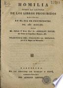 Homilia sobre la lectura de los libros prohibidos