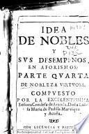 Idea de nobles y sus desempeños en aforismos