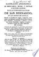 Ilustración apologética al Breviario, Misal y Ritual Cisterciense de la Congregación de S. Bernardo en los reynos de Castilla