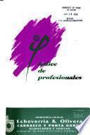 Indice de profesionales del Uruguay
