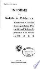 Informe del Ministro de lo Interior y Policia ... a la Convención Nacional de ...