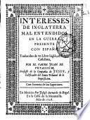 Interesses de Inglaterra mal entendidos, en la guerra presente con España