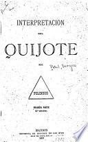 Interpretacion del Quijote, por Polinous [pseud.].