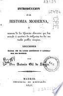 Introducción a la historia moderna ó examen de los diferentes...