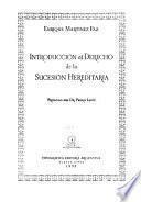 Introducción al derecho de la sucesión hereditaria
