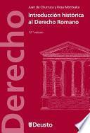 Introducción histórica al Derecho Romano (10 Edición)