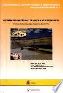 Inventario nacional de arcillas especiales