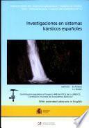 Investigaciones en sistemas kársticos españoles