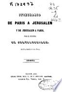 Itinerario de Paris a Jerusalen y de Jerusalen a Paris