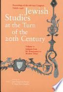 Jewish Studies at the Turn of the Twentieth Century