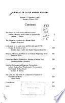 Journal of Latin American Lore