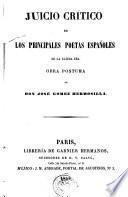 Juicio crítico de los principales poetas españoles de la última era