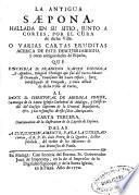 La Antigua Saepona hallada en su sitio junto a Cortes ... o Varias cartas eruditas acerca de este descubrimiento ...