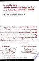 La autoridad de la Sociedad Económica de Amigos del País en la política gubernamental de 1830-1840