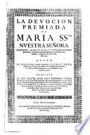 La Devoción Premiada de Maria Santísima