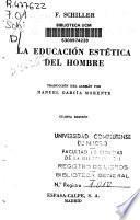 La educación estética del hombre