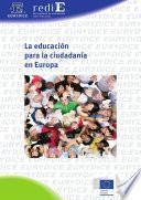 La educación para la ciudadanía en Europa