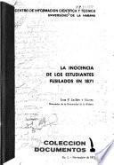 La inocencia de los estudiantes fusilados en 1871