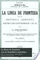 La línea de frontera con la República arjentina