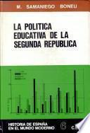 La política educativa de la Segunda República durante el bienio azañista
